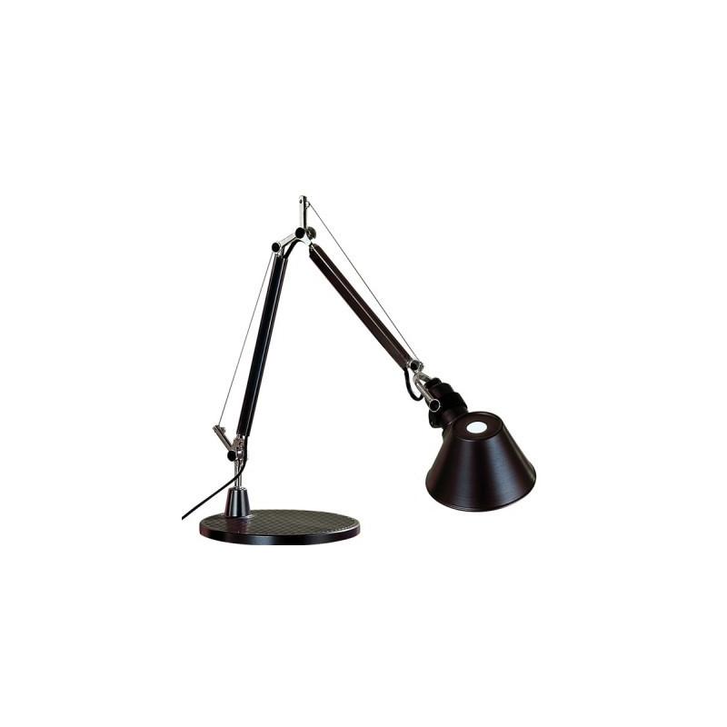 lampe de bureau tolomeo micro noir artemide comptoir des lustres. Black Bedroom Furniture Sets. Home Design Ideas