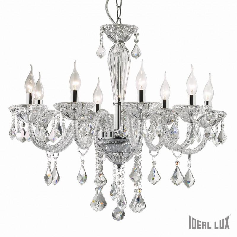 lustre chandelier tiepolo 8 branches ideal lux comptoir des lustres. Black Bedroom Furniture Sets. Home Design Ideas