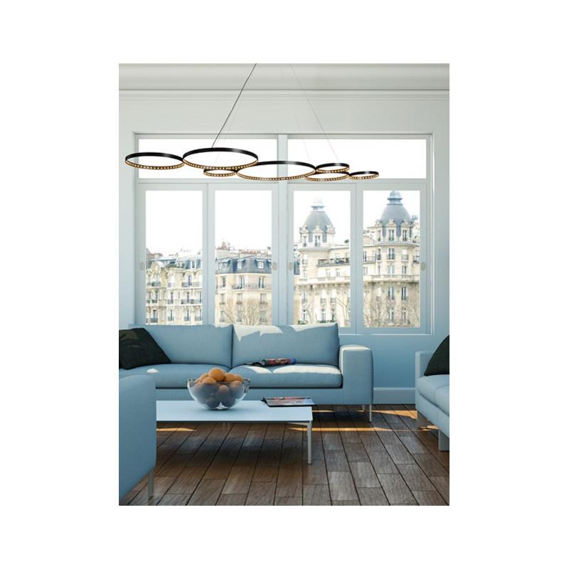 suspension led ultra 8 le deun comptoir des lustres. Black Bedroom Furniture Sets. Home Design Ideas