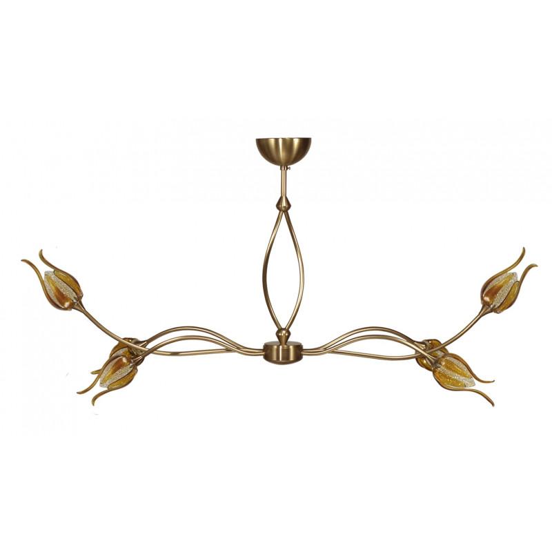 Lustre Syra 6 lampes Fleurs