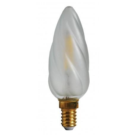 Ampoule LED 2W Flamme torsadée Satinée E14