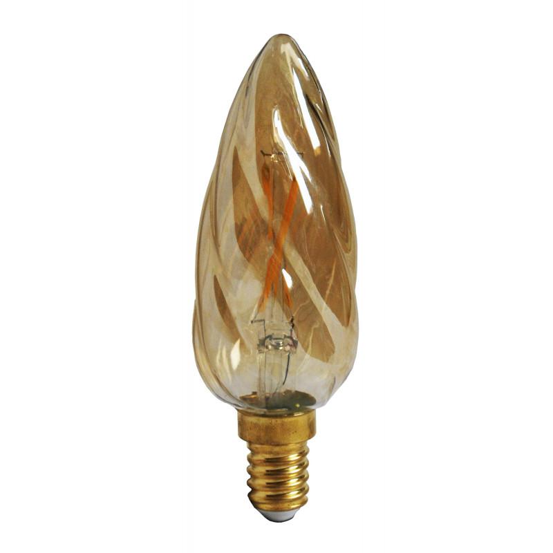 Ampoule LED Flamme torsadée Ambrée 2W E14 Girard Sudron