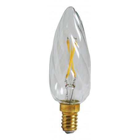 Ampoule LED 2W Flamme torsadée Claire E14