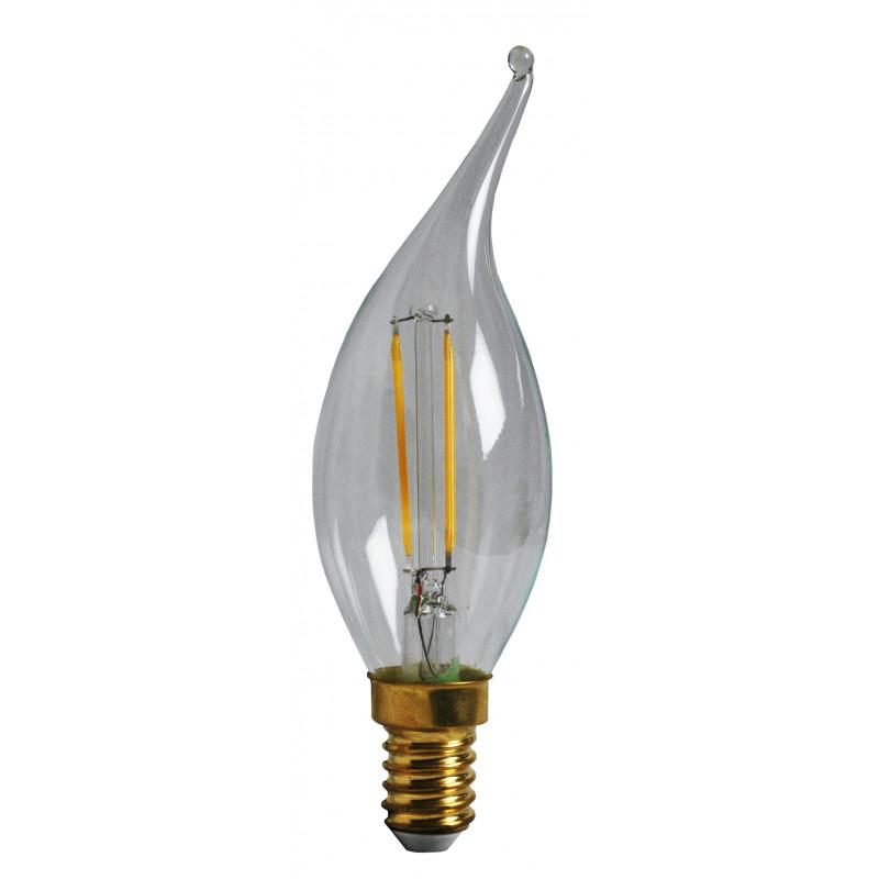 Ampoule LED Flamme Coup de vent Claire 2W E14 Girard Sudron