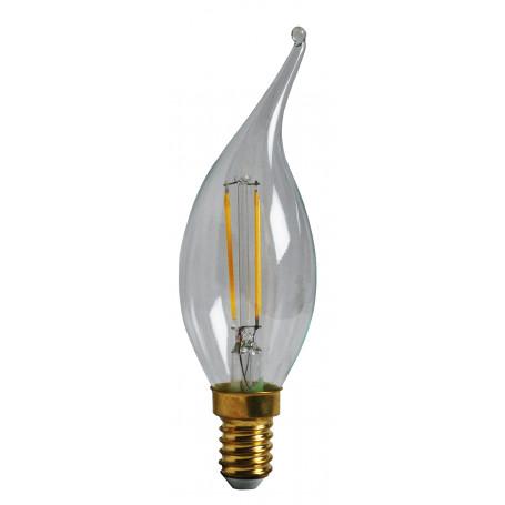 Ampoule LED 2W Flamme Coup de vent Claire E14