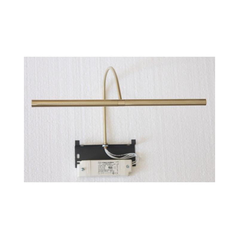 applique pour tableau led rubis 30 cm laiton bross mauduit biard comptoir des lustres. Black Bedroom Furniture Sets. Home Design Ideas