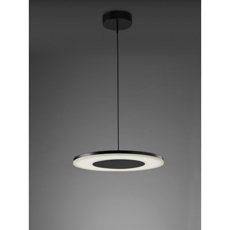 Suspension LED Discobolo 48 cm Noir