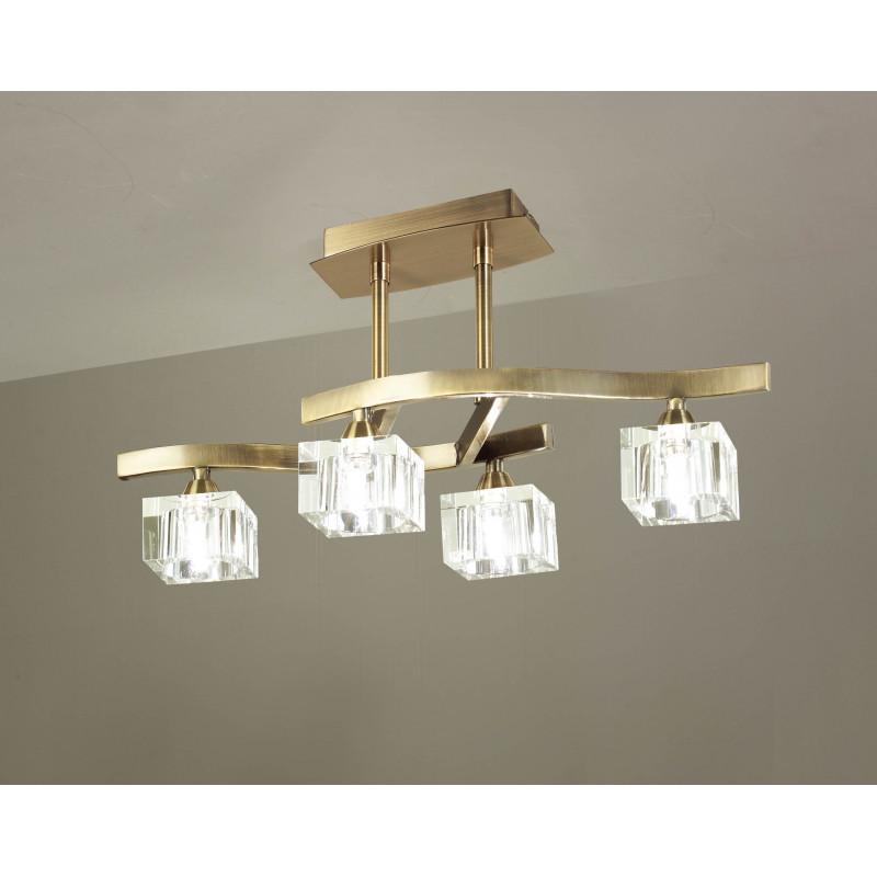 Suspension Cuadrax 4 lampes Mantra