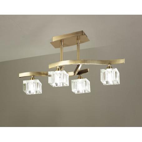 Suspension Cuadrax 4 lampes