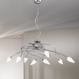 Lustre Armonia 8 lampes - 2 finitions