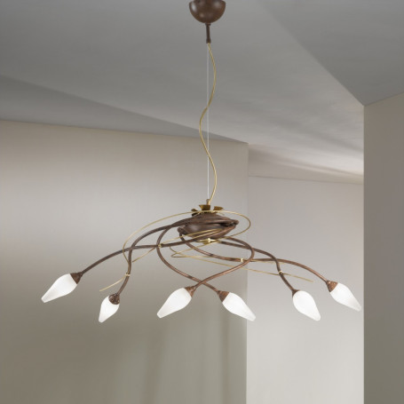Lustre Armonia 6 lampes - 2 finitions