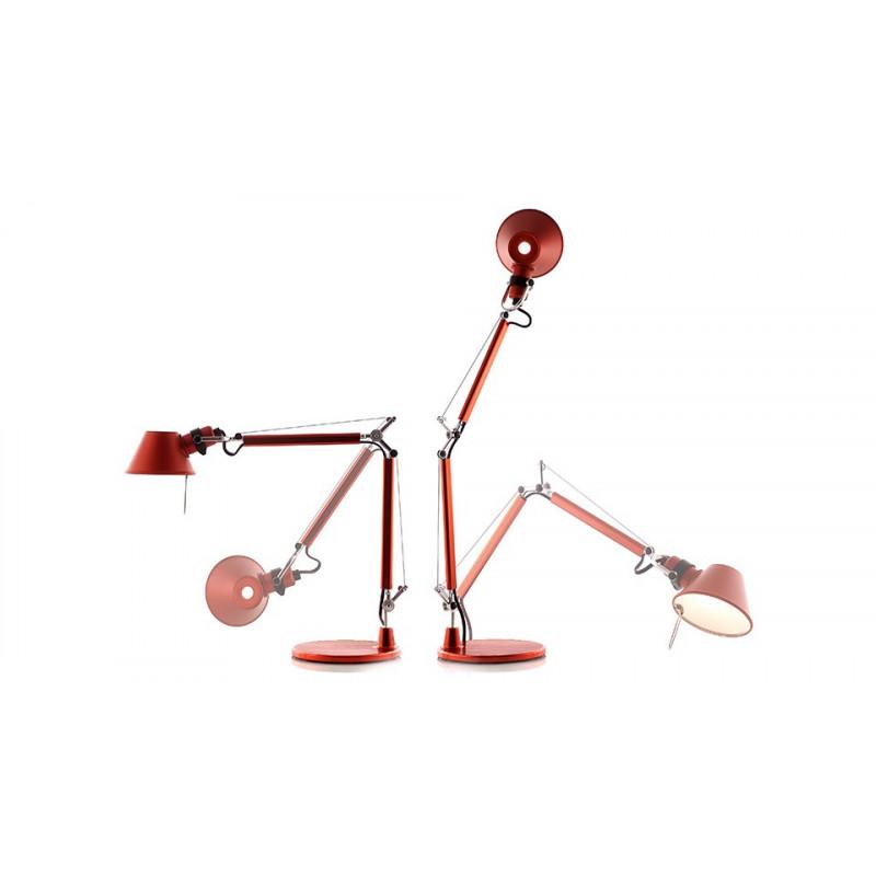 Lampe de bureau Tolomeo Micro Rouge Artemide