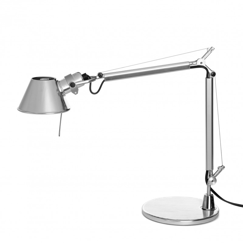 lampe de bureau tolomeo micro aluminium artemide comptoir des lustres. Black Bedroom Furniture Sets. Home Design Ideas