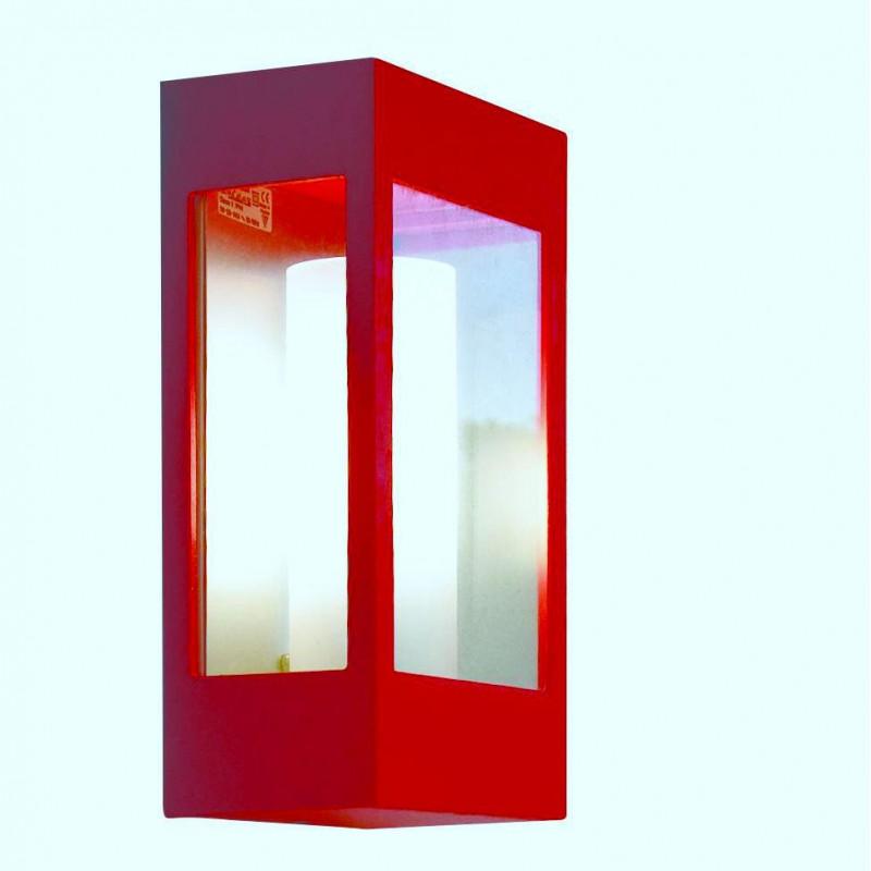 Applique d'extérieur Brick Roger Pradier coloris rouge