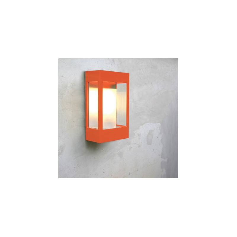 Applique d'extérieur Brick Roger Pradier coloris orange