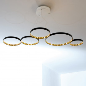 Suspension LED Super 8 Noir