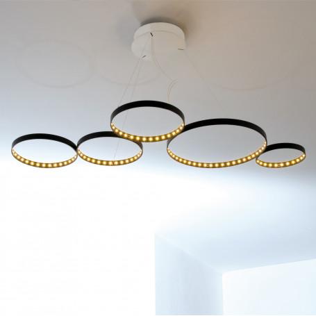 Suspension LED Super 8 Noir