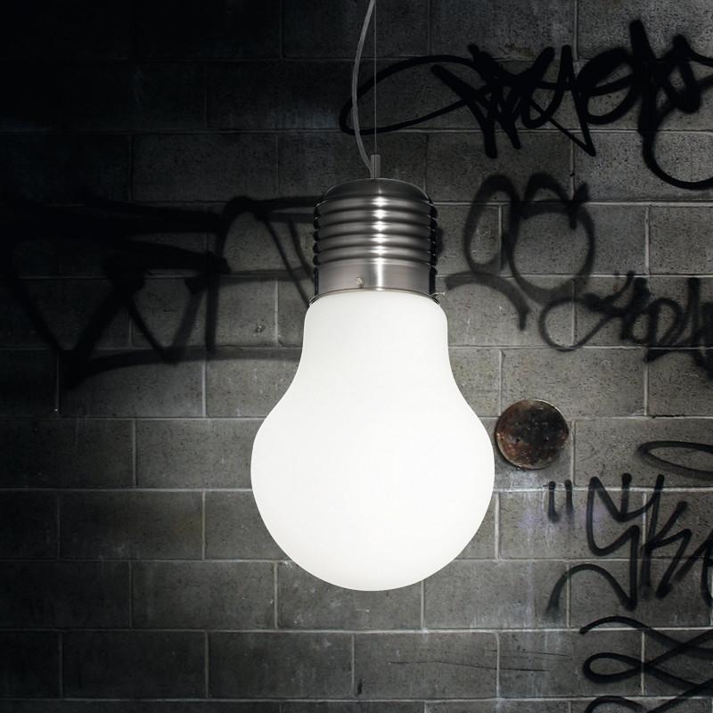 Suspension Ampoule Blanche géante Ideal Lux