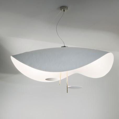 Suspension LED Lederam Manta S2 Blanc