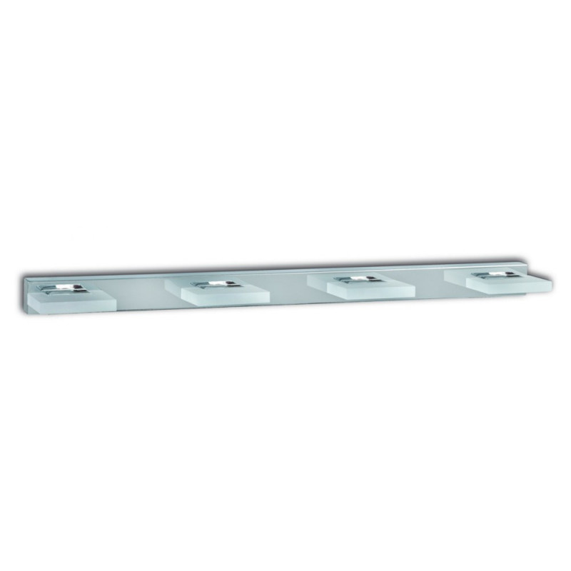 Applique de salle de bain Chrome 4 LED
