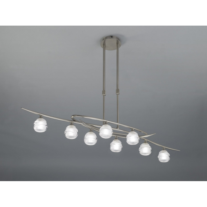 Lustre Loop 8 lampes