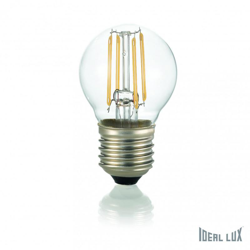 ampoule led filament sph rique claire e27 ideal lux comptoir des lustres. Black Bedroom Furniture Sets. Home Design Ideas