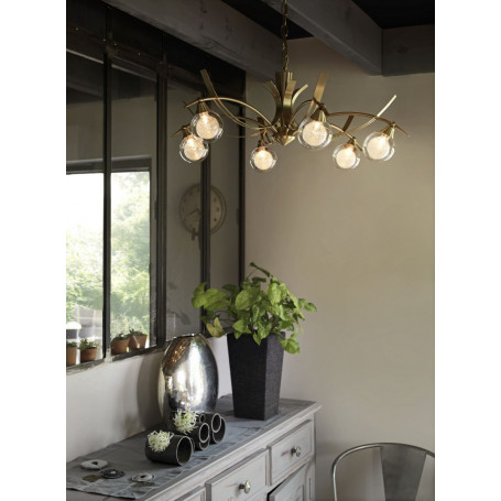 Lustre Maori 6 lampes 2 finitions