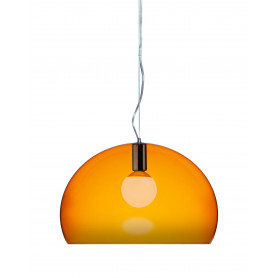 Suspension design fl y finition chrome kartell for Lustre kartell