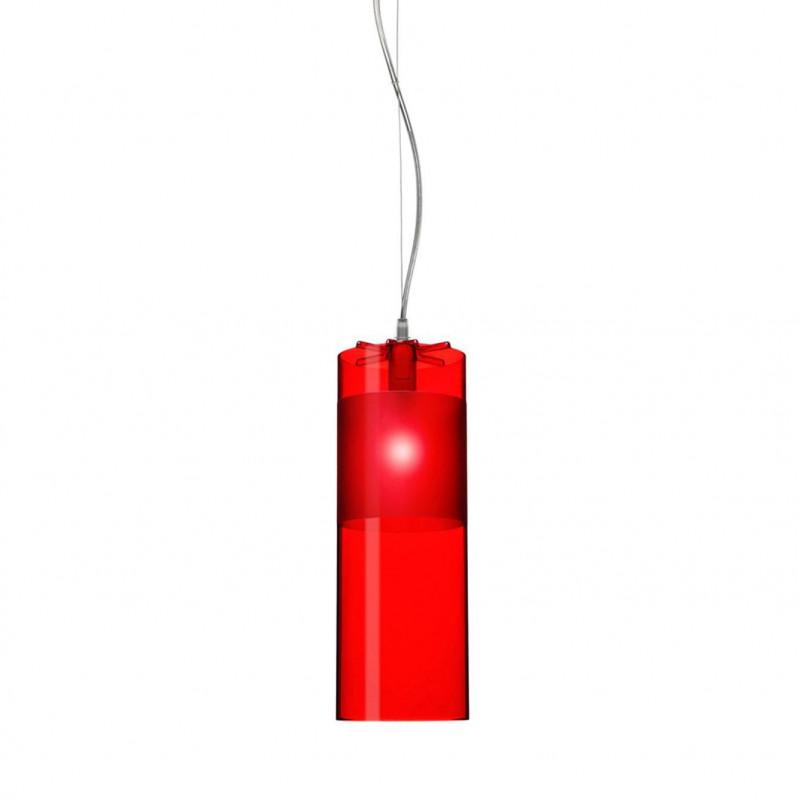 Suspension easy rouge kartell comptoir des lustres for Lustre kartell
