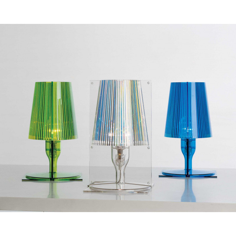 Lampe poser take 7 coloris kartell comptoir des for Lustre kartell