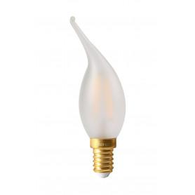 Ampoule LED 4W Dimmable Flamme Coup de vent Satinée E14