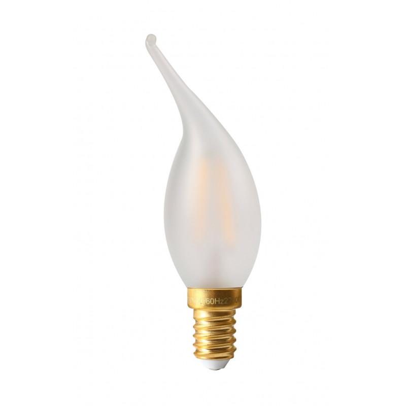 Ampoule LED 4W DimmableFlamme Coup de vent Satinée E14 Girard-Sudron