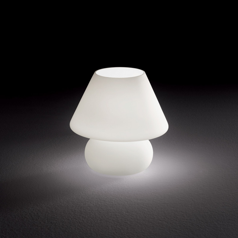 Lampe à poser Prato en verre blanc Ideal Lux