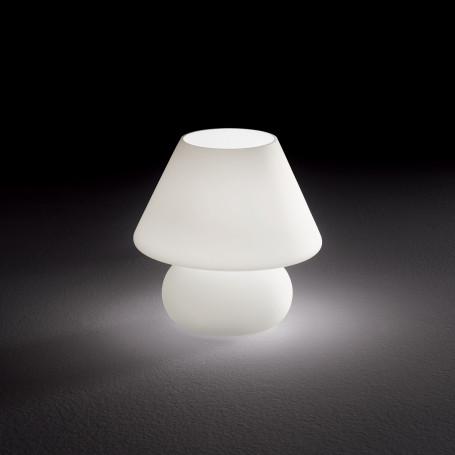 Lampe à poser Prato en verre blanc