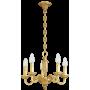 Lustre Style Louis XVI 5 lampes Lucien Gau