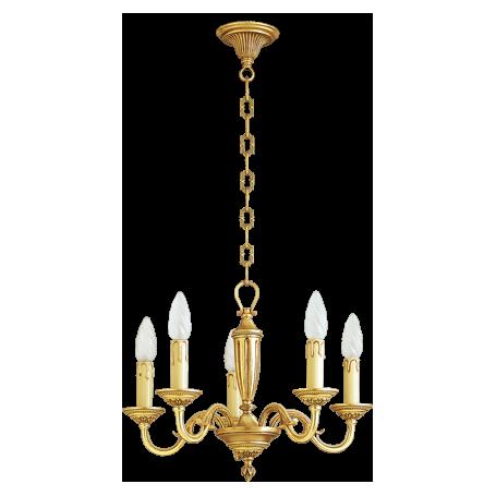 Lustre bronze Style Louis XVI - 5 lampes