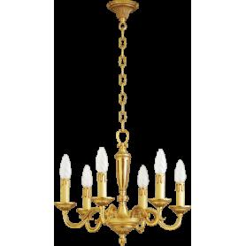 Lustre bronze Style Louis XVI - 6 lampes