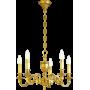 Lustre bronze Style Louis XVI - 5 lampes Lucien Gau