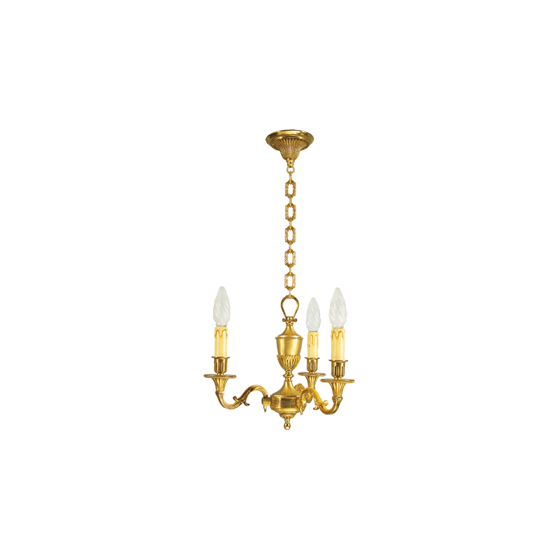 lustre bronze louis xvi 3 lampes maison lucien gau comptoir des lustres. Black Bedroom Furniture Sets. Home Design Ideas