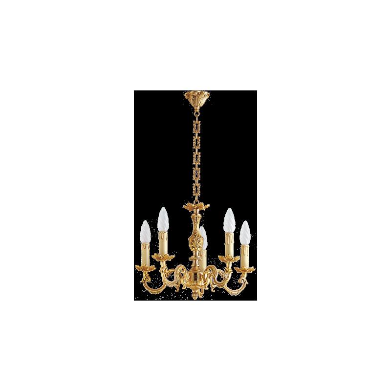lustre bronze louis xv 5 lampes maison lucien gau comptoir des lustres. Black Bedroom Furniture Sets. Home Design Ideas