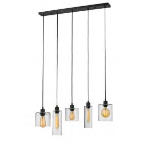Suspension Ilo-Ilo 5 lampes Linéaire