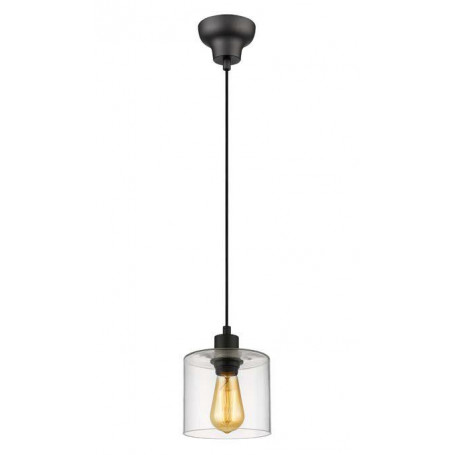 Suspension Ilo-Ilo 1 lampe Noir H13cm