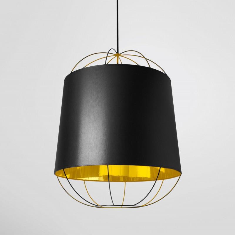 suspension lanterna moyen noir petite friture comptoir des lustres. Black Bedroom Furniture Sets. Home Design Ideas