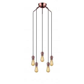 Suspension Oros 5 lampes Cuivre