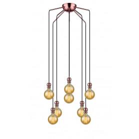 Suspension Oros 8 lampes Cuivre