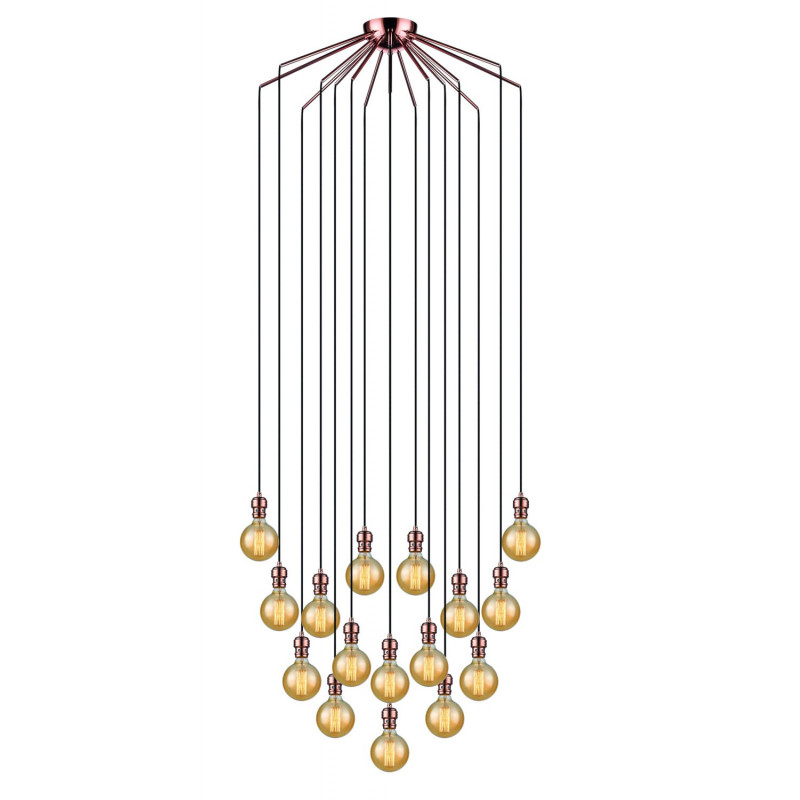 Suspension Oros 16 lampes Cuivre Market Set