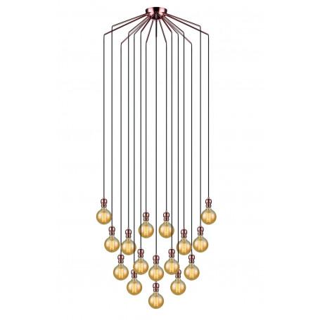 Suspension Oros 16 lampes Cuivre