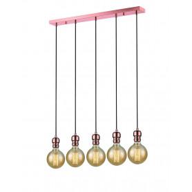 Suspension Oros 5 lampes Linéaire