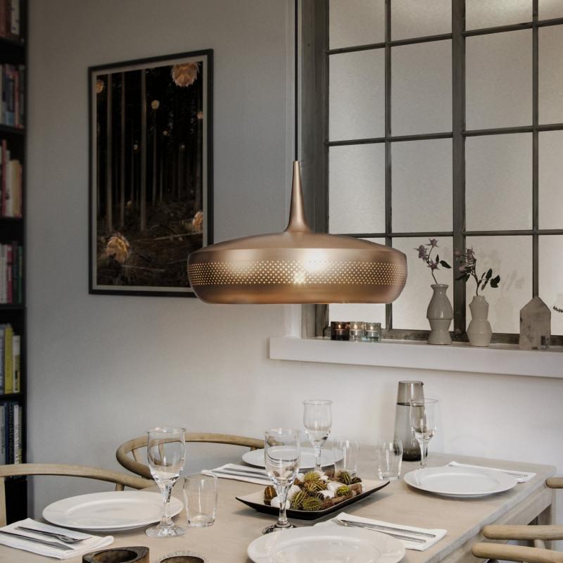 abat jour clava dine cuivre bross vita comptoir des lustres. Black Bedroom Furniture Sets. Home Design Ideas