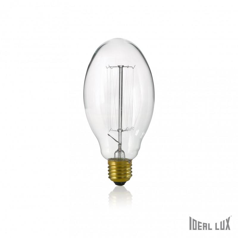 ampoule filament claire ovale 40w e27 ideal lux comptoir des lustres. Black Bedroom Furniture Sets. Home Design Ideas